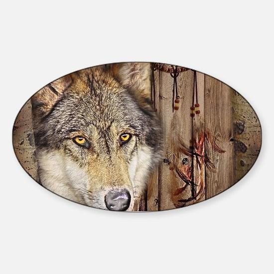 wolf dream catcher birch wo Decal