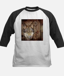 native dream catcher wolf Baseball Jersey