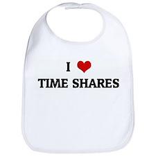 I Love TIME SHARES Bib