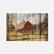 farm red barn Magnets
