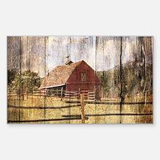 farm red barn Decal
