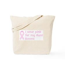 Aunt Savana (wear pink) Tote Bag