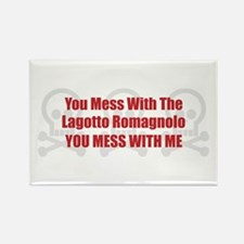 Mess With Lagotto Rectangle Magnet (100 pack)