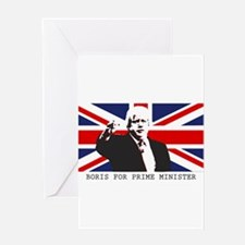 BORIS FOR PM Greeting Cards