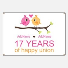 17th Anniversary Two Birds Love Banner