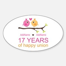 17th Anniversary Two Birds Love Decal