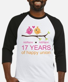 17th Anniversary Two Birds Love Baseball Jersey