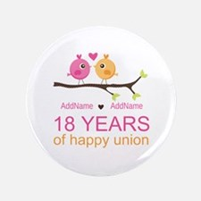 "18th Anniversary Persnalize 3.5"" Button (100 pack)"