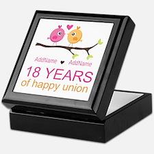 18th Anniversary Persnalized Keepsake Box