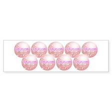 Amazeballs! (pink) Bumper Bumper Sticker