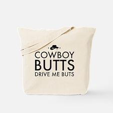 Cowboy BUTTS Drive Me Buts Tote Bag