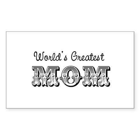 World's Greatest Mom Rectangle Sticker