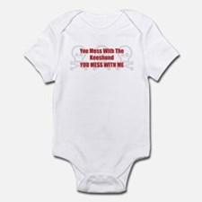 Mess With Keeshond Infant Bodysuit