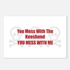 Mess With Keeshond Postcards (Package of 8)