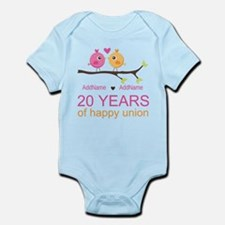 Personalized 20th Anniversary Infant Bodysuit