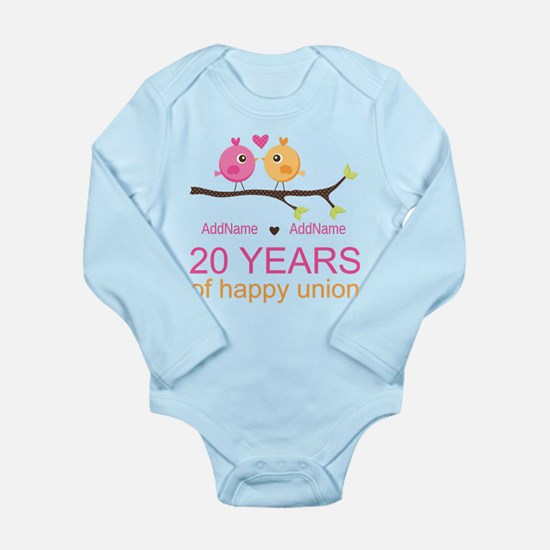 Personalized 20th Anni Long Sleeve Infant Bodysuit
