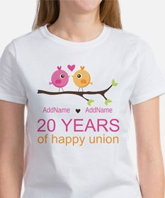Personalized 20th Anniversary Women's T-Shirt
