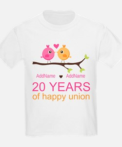 Personalized 20th Anniversary T-Shirt