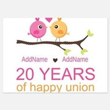 Personalized 20th Anniversary 5x7 Flat Cards