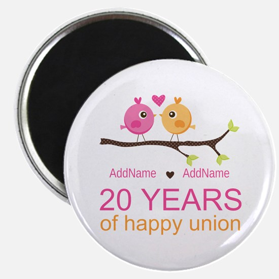 Personalized 20th Anniversary Magnet