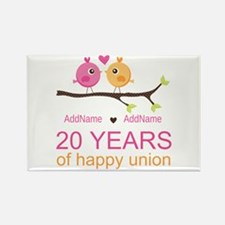 Personalized 20th Anniversary Rectangle Magnet