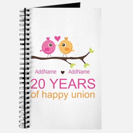 Personalized 20th Anniversary Journal