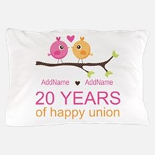 Personalized 20th Anniversary Pillow Case