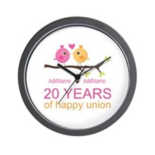 Personalized 20th Anniversary Wall Clock