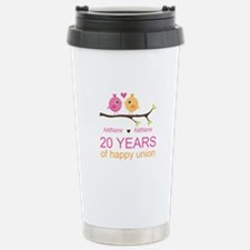 Personalized 20th Anniv Stainless Steel Travel Mug