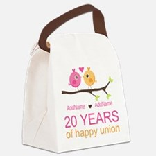 Personalized 20th Anniversary Canvas Lunch Bag