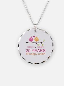 Personalized 20th Anniversar Necklace