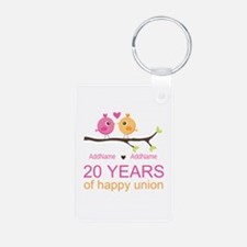 Personalized 20th Annivers Keychains