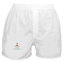 Melting Snowman Winter Boxer Shorts