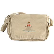 Melting Snowman Winter Messenger Bag