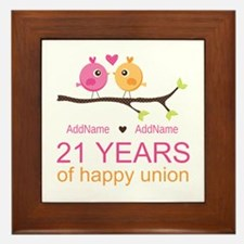 21st Anniversary Personalized Framed Tile