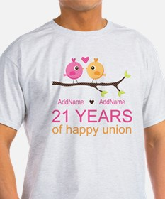 21st Anniversary Personalized T-Shirt