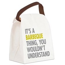 Its A Barbeque Thing Canvas Lunch Bag
