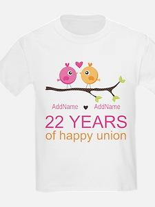 22nd Wedding Anniversary Person T-Shirt