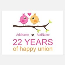 22nd Wedding Anniversary Personaliz 5x7 Flat Cards
