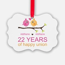 22nd Wedding Anniversary Personal Ornament