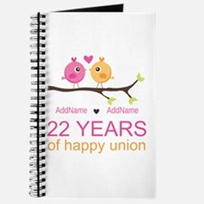 22nd Wedding Anniversary Personalized Journal