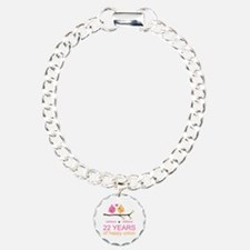 22nd Wedding Anniversary Bracelet