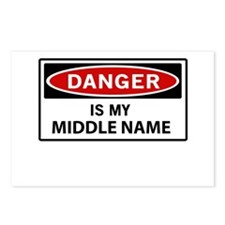 DANGER is my middle name Postcards (Package of 8)