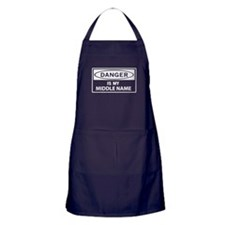 DANGER is my middle name Apron (dark)