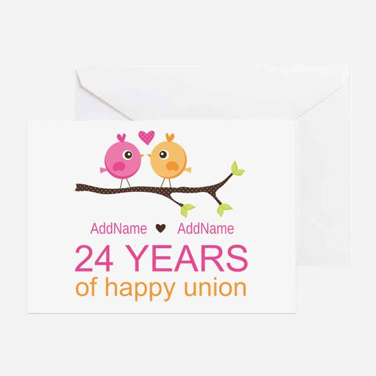 Wedding Anniversary Gifts 24th Year : 24 Year Anniversary Greeting Cards Card Ideas, Sayings, Designs ...