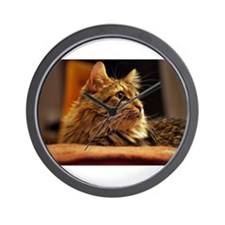 Cat ginger Wall Clock