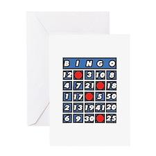 Bingo Card Greeting Cards