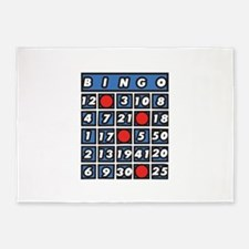 Bingo Card 5'x7'Area Rug