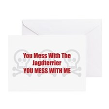Mess With Jagdterrier Greeting Cards (Pk of 10