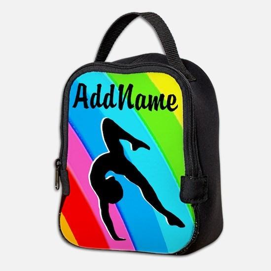 Colorful Gymnast Neoprene Lunch Bag